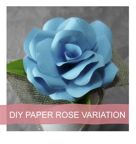 paper flower tutorial with template