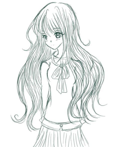 anime hairstyles curly anime girl long wavy hair izayoi totsumi