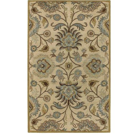echelon area rug home decorators collection echelon beige 6 ft x 9 ft area rug 8784750420 the home depot