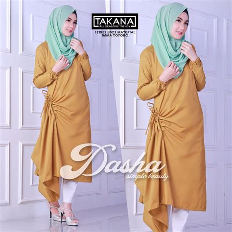 Baju Muslim Tunik Ranti Jual Baju Gamis Busana Muslim 2017 Style Gamis Dasha