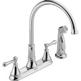 Delta High Arc Kitchen Faucet by Shop Delta Cassidy Chrome 2 Handle High Arc Kitchen Faucet
