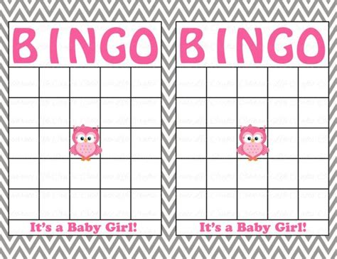 baby bingo card templates blank baby shower bingo cards printable baby boy