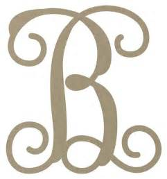 Lighted Christmas Garland 12 Quot Unfinished Monogram Letter B