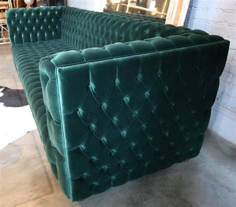 green velvet tufted sofa custom capitone quot carmen quot tufted green velvet sofa for sale