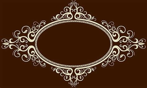 Ornate Oval Frame Vector Free