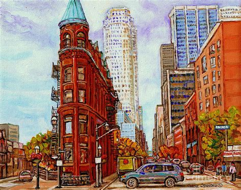 Superb Flatiron Church #1: Paintings-of-toronto-the-flat-iron-building-front-street-and-church-toronto-skyline-art-c-spandau-carole-spandau.jpg