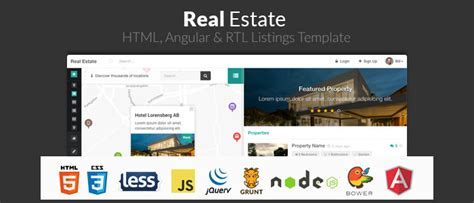15 Angularjs Website Templates Themes Free Premium Templates Real Estate Listing Website Template