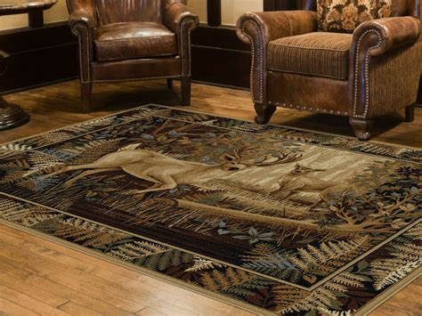 nature area rugs tayse rugs nature fern deer lodge area rug 7 10 x 10 3 home home decor rugs area
