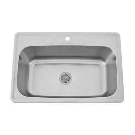 barclay elliot 33 ss single well dropin sink 1 hole fct
