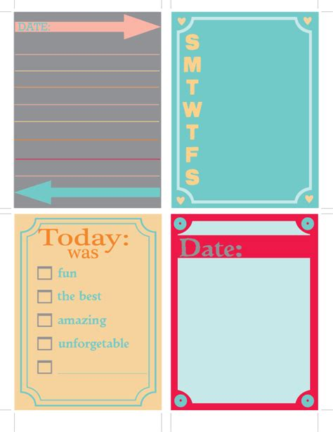 Project Journaling Card Template by A Southern S Ramblings Free Printable Journaling
