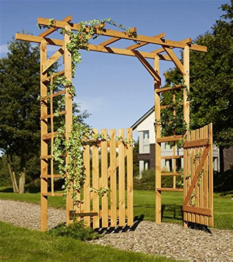 Rosenbogen Mit Tor Holz 953 by Rosenbogen 200cm Breit Breite Rosenb 246
