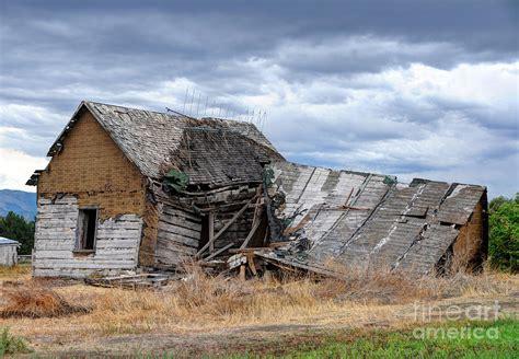 Utah House Plans ruined rural farm house and storm clouds utah photograph