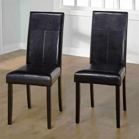 White Leather Parsons Dining Chairs Dining Chairs Glamorous Leather Parsons Dining Chair Parsons Chair Wiki Black Leather Parsons