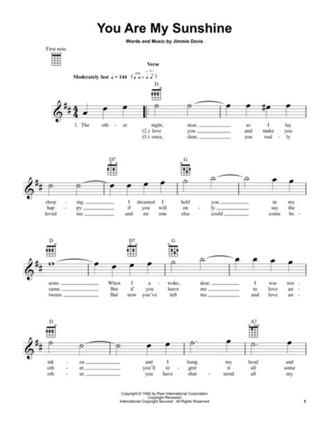 fingerstyle tutorial you are my sunshine download you are my sunshine sheet music by duane eddy