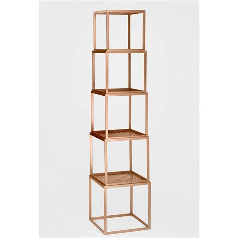 gold stackable etagere open bookcase 17920 the home - Etagere 2 Stöckig Silber