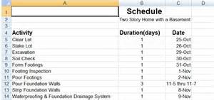 home construction schedule template house construction house construction schedule