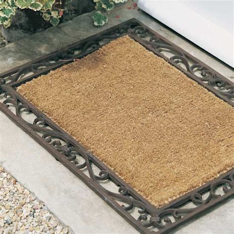 Cast Iron Doormat Buy Cast Iron And Coir Doormat Delivery By Crocus