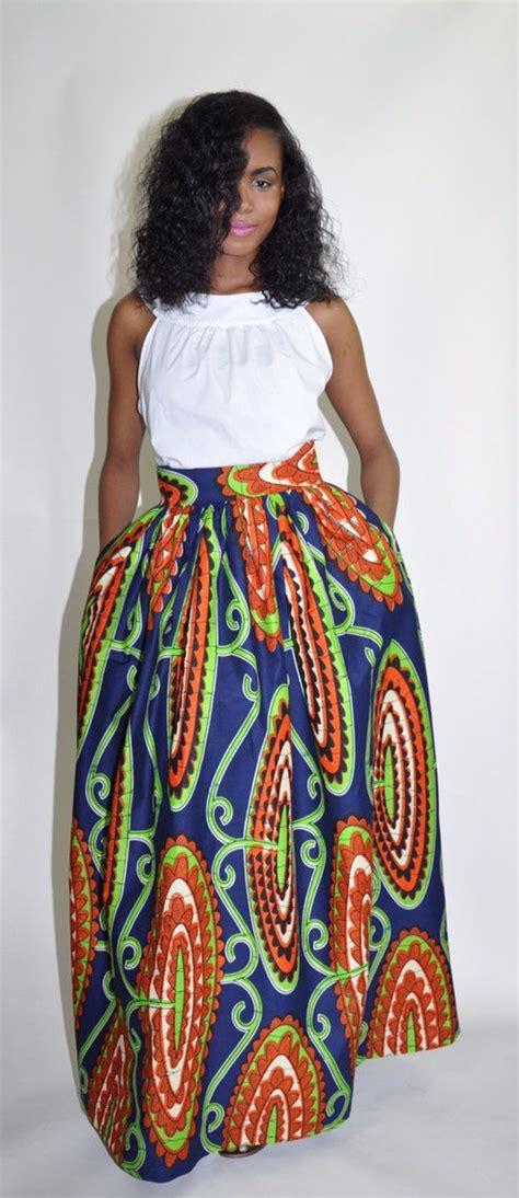 African Attire Skirt | african print maxi skirt the mel maxi by chenburkettny on