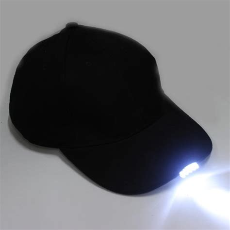 hat with led lights baseball hat with 5 led lights