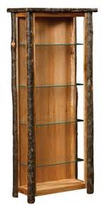 Curio Cabinets Rustic Amish Rustic Hickory Curio Cabinet Cabinets Rustic And