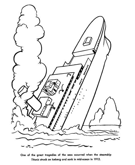 Titanic Coloring Pages Printable titanic coloring pages for coloringpagesabc
