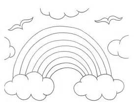 rainbow pictures to color rainbow coloring pages for preschool az coloring pages