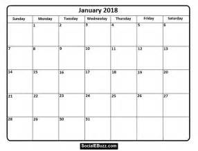 Calendar 2018 January Holidays January 2018 Calendar Printable Template With Holidays Pdf