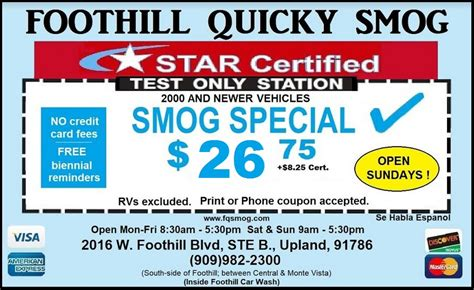 haircut coupons rancho cucamonga star certified smog check test only stations foothill