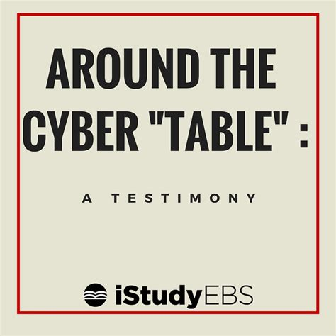 around the cyber quot table quot a testimony istudyebs