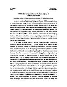 themes in dh lawrence short stories comparison essay the shades of spring things by d h