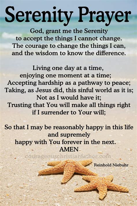 printable version serenity prayer serenity prayer on pinterest narcotics anonymous