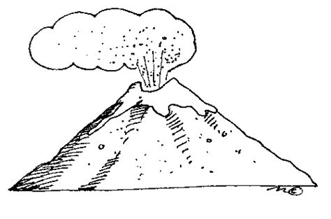 volcano black white clipart clipart suggest