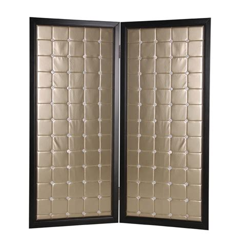 beau monde 6 ft gold 2 panel room divider sg 71 the