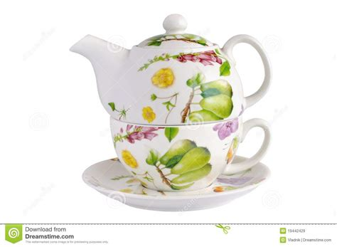 teapot cup and saucer royalty free stock images image