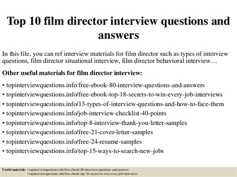 film quiz directors top 10 film director interview questions and answers