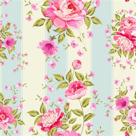 pattern flower pink pink flower seamless pattern beautiful vector
