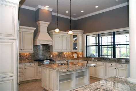 white kitchen cabinets with antique finish home