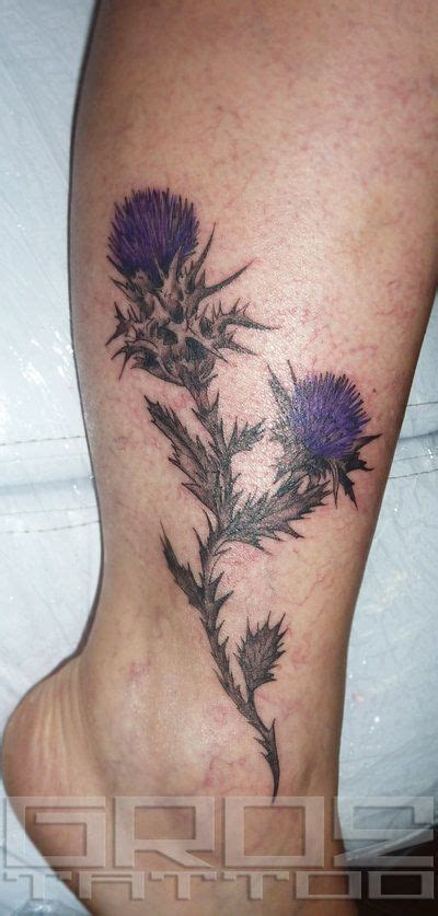 scottish thistle tattoo best 20 thistle ideas on simple flower