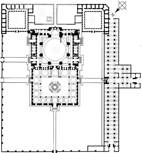 floor plan of a mosque plan 84 mosque of selim ii edirne turkey sinan architect 1568 1575 c e brick and
