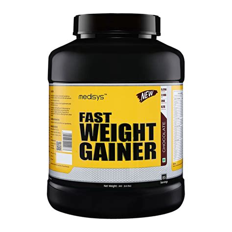 best gainer medisys fast weight gainer chocolate 3kg in india
