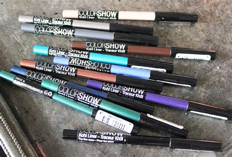 Maybelline Crayon Liner i all my eyes maybelline kohl liner by color show