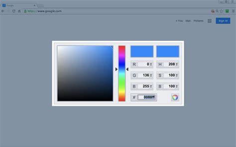 color picker chrome simple color picker chrome web store