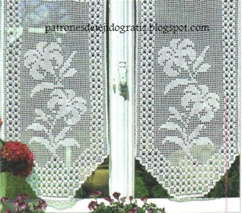 patrones de cortinas  cenefas crochet filet  patrones  crochet
