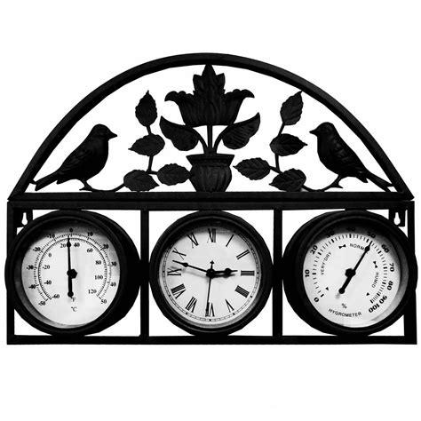 garden wall clock thermometer garden wall clock garden