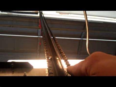 How To Repair Garage Door Opener Loose Chain Fix Gear Garage Door Chain Track