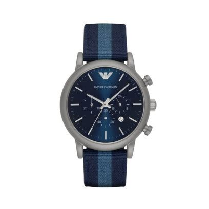 Jam Tangan Marco Jacob Denim Blue luigi chronograph blue stripes nato