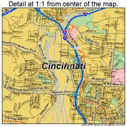 Cincinnati Ohio Map by Cincinnati Ohio Street Map 3915000