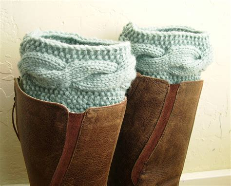 knitted boot toppers purple legwarmers knit boot cuffs boot toppers cable