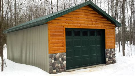 log siding refinishing duluth mn economy garages usa inc building garages cabins and