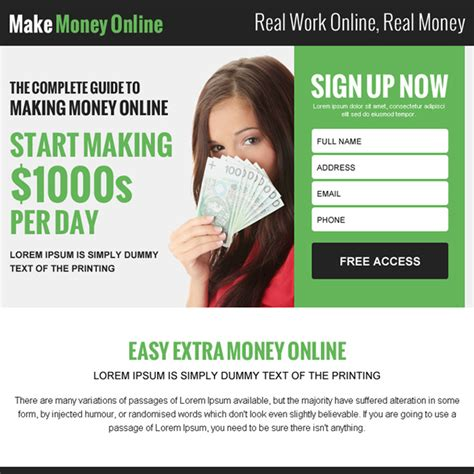 Make Money Online Leads - make money online ppv landing pages for online business conversion and sales